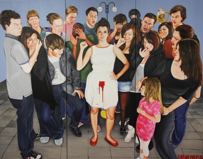 """Menstruate With Pride"" / Image via Sarah Maple"
