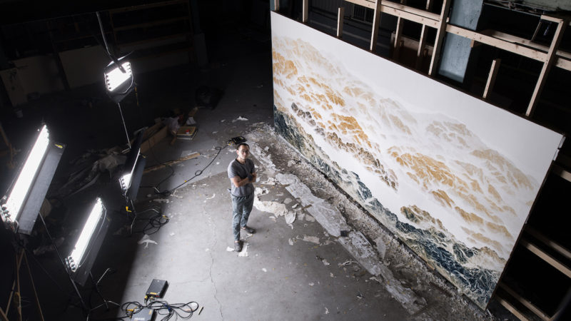 wu chi-tsung in his studio